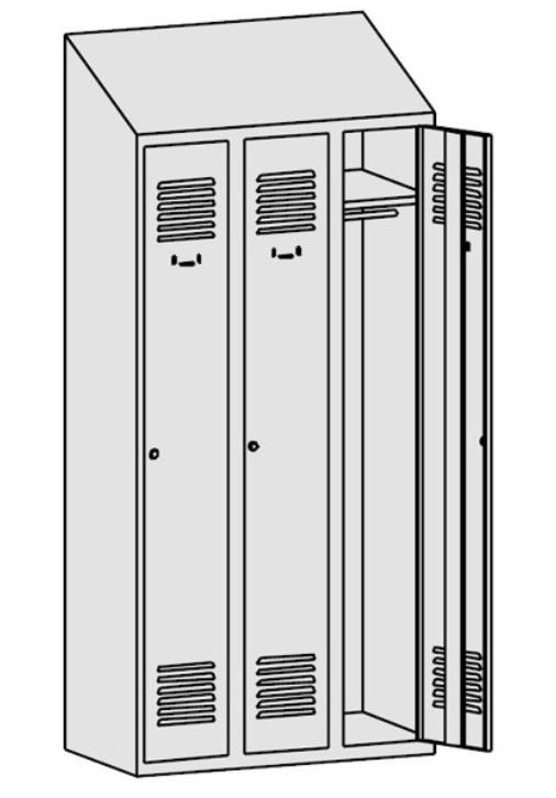 Метален гардероб Sum 330k