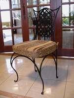 Комфортен стол от ковано желязо